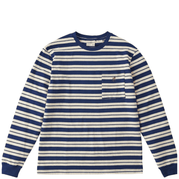 Gramicci One Point Long Sleeve T-Shirt - Navy / Ivory