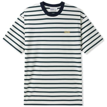 Butter Goods Chase Striped T-Shirt - White