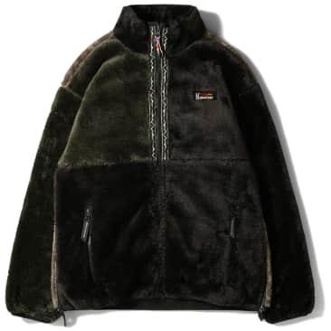 Manastash Bigfoot Pullover Fleece Jacket (Panel) - Black / Olive