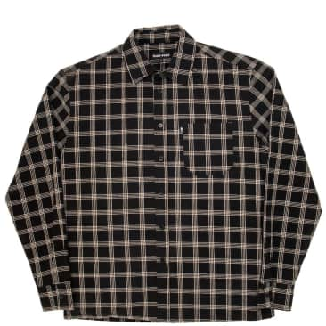 Pass~Port Workers Check Long Sleeve Shirt - Black