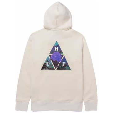 HUF New Dawn Triple Triangle Pullover Hoodie - Natural