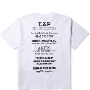 Aries Mystic Business SS T-Shirt - White