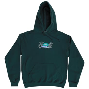 Frog Big Shoes Hoodie - Forest Green
