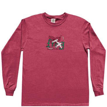 Frog Damaged Love Connection Long Sleeve T-Shirt - Red