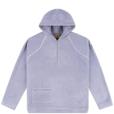 Dime Polar Fleece Half Zip Hoodie - Lavender