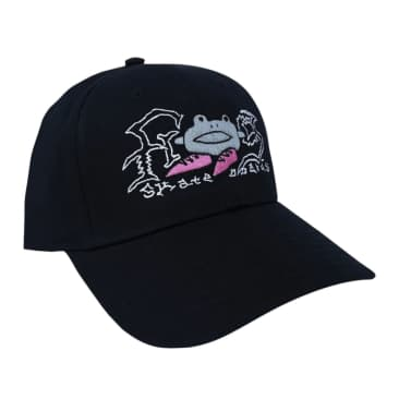 Frog Big Shoes Hat - Black