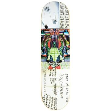 "GX1000 Stay Up Late Club Skateboard Deck - 8.5"""