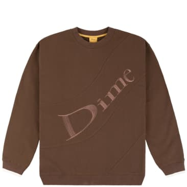 Dime Wave Terry Crewneck - Stray Brown