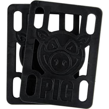 "PIG- 1/4"" RISERS""(BLACK)"