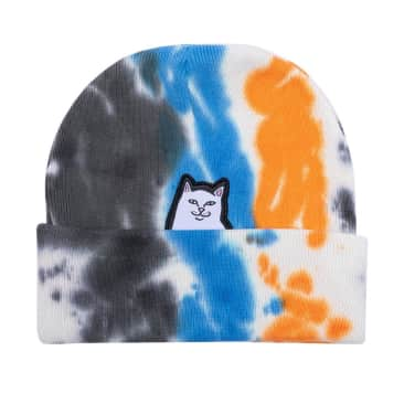 Rip N Dip Lord Nermal Beanie - Blue/Orange Tie Dye