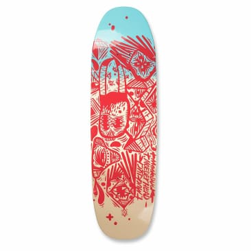 Uma Right Said Red T Muck Skateboard Deck size 8.5 / 9.25