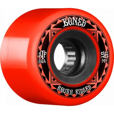 Bones ATF Rough Rider Runners 56mm 80A Wheels (Red)