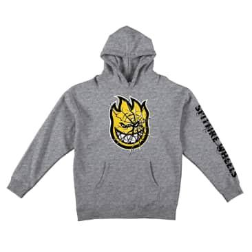 Spitfire Shattered Bighead Hooded Sweatshirt (Silver Grey)