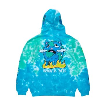 Rip N Dip Save The World Embroidered Hoodie - Aqua/Green
