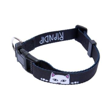 Rip N Dip Peek A Nerm Web Belt Pet Collar - Black