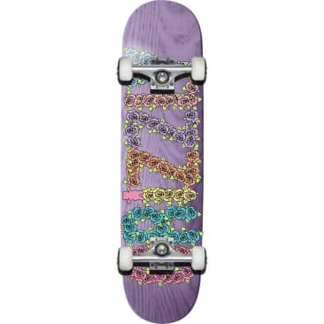 """Grizzly Mini Roses Lavender Complete Skateboard Deck - 7.75"""""""