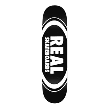 """Real Deck Classic Oval Black 8.25"""""""
