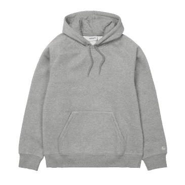 Carhartt WIP Hooded Chase Sweat - Grey Heather/Gold
