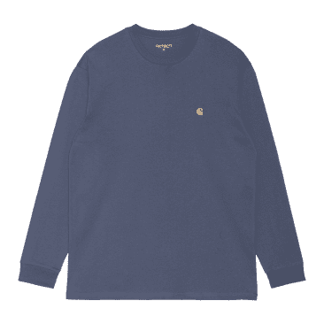 Carhartt WIP L/S Chase T-Shirt - Cold Viola/Gold