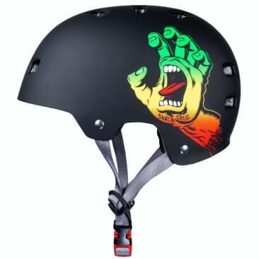 Bullet x Santa Cruz Helmet Screaming Hand - Rasta