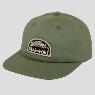 Pass-Port Quill Patch 6 Panel Cap - Sage Green