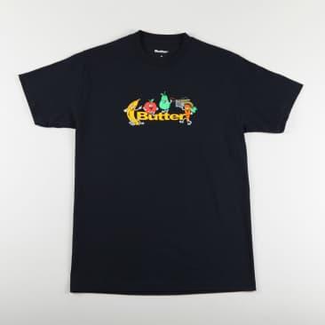 Butter 'Fruits Logo' T-Shirt (Navy)