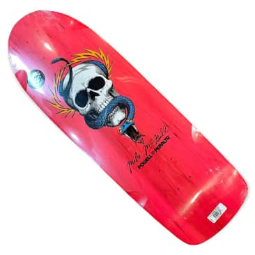 Powell Peralta Deck Mike McGill Skull and Snake Fluorescent Pink 10x30.1