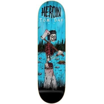 """Heroin Skateboards Tom Day Woodsman Deck   8.75"""""""
