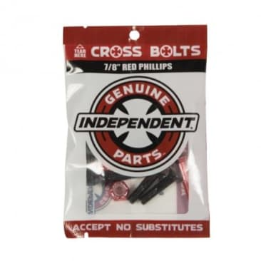 """Cross Bolts Black/Red   7/8"""" Phillips"""