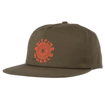 Classic '87 Snapback | Olive/Red