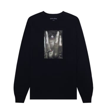 FUCKING AWESOME I SEE YOU L/S TEE - BLACK