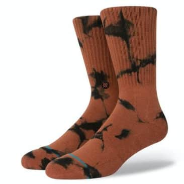STANCE DYED CREW SOCKS - BROWN