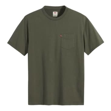 LEVI'S RELAXED FIT POCKET T-SHIRT - THYME