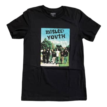 ZERO MISLED YOUTH COVER S/S - BLACK