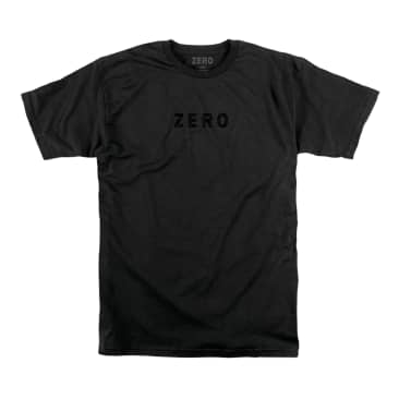 ZERO ARMY EMBROIDERED T-SHIRT - BLACK