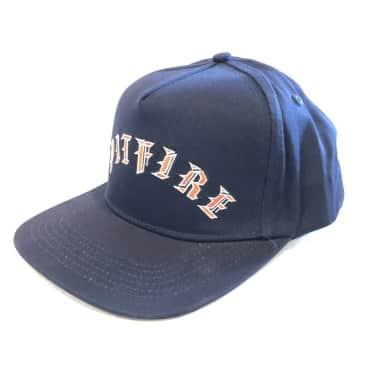 Spitfire Old English Arch Hat (Navy/Red)