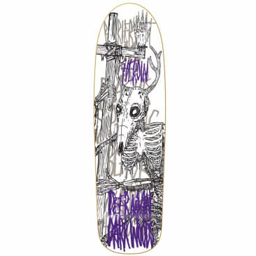 "Heroin Skateboards DMODW Skeletal White Deck 9.25"""