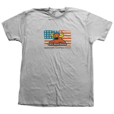 Toy Machine American Blood Sucking Company Tee Silver