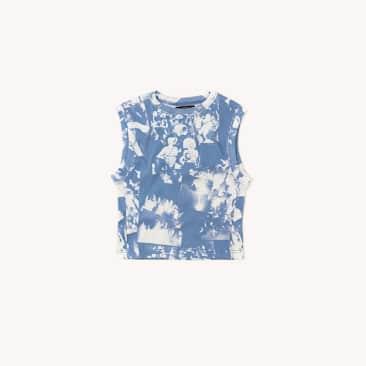 Boiler Room - Boiler Room Rib Print Vest Blue