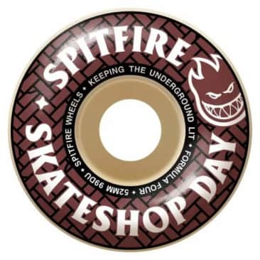 Spitfire Classic's Skate Shop Day Wheels 52mm [4 pack]