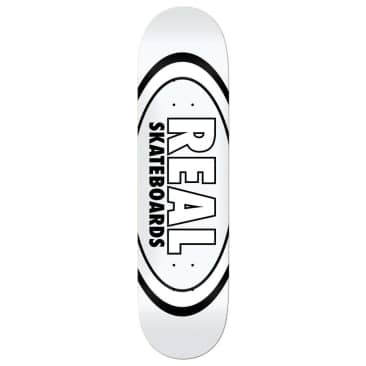 """Real Skateboards Team Classic Oval Deck White - 8.38"""""""