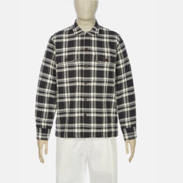 Universal Works Utility Shirt - Brown Heavy Check