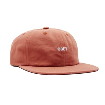 Obey Bold Washed Canvas 6 Panel - Ginger