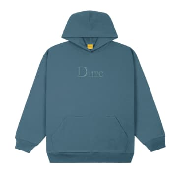 Dime Classic Embroidered Hoodie: Real Teal