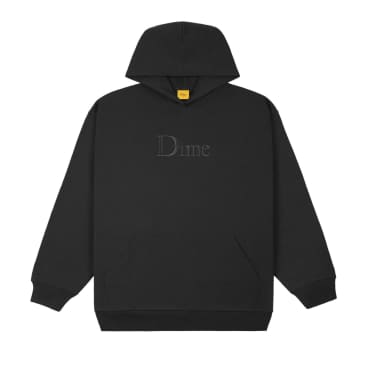 Dime Classic Embroidered Hoodie: Black