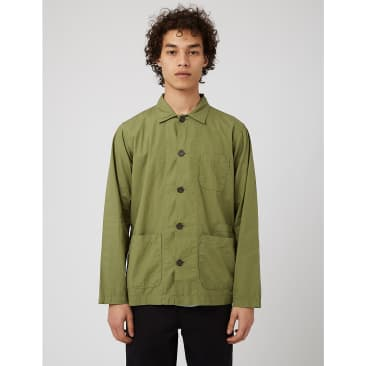 Universal Works Bakers Overshirt - Olive