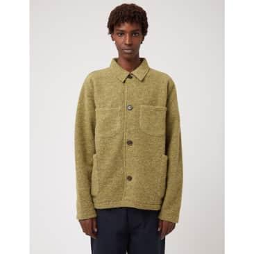 Universal Works Lumber Jacket (Wool Fleece) - Light Olive Green