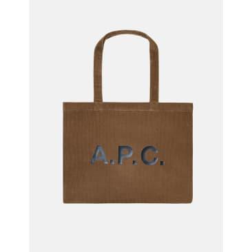 A.P.C. Diane Shopping Bag - Taupe Brown