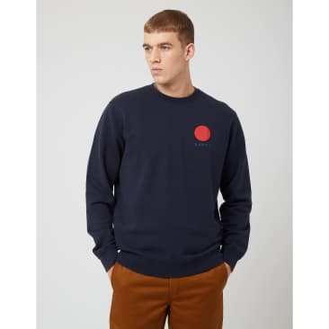 Edwin Japanese Sun Sweatshirt - Navy Blazer Blue