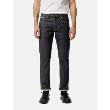 Nudie Jeans Gritty Jackson Jeans (Regular Fit) - Dry Maze Selvage Indigo Blue